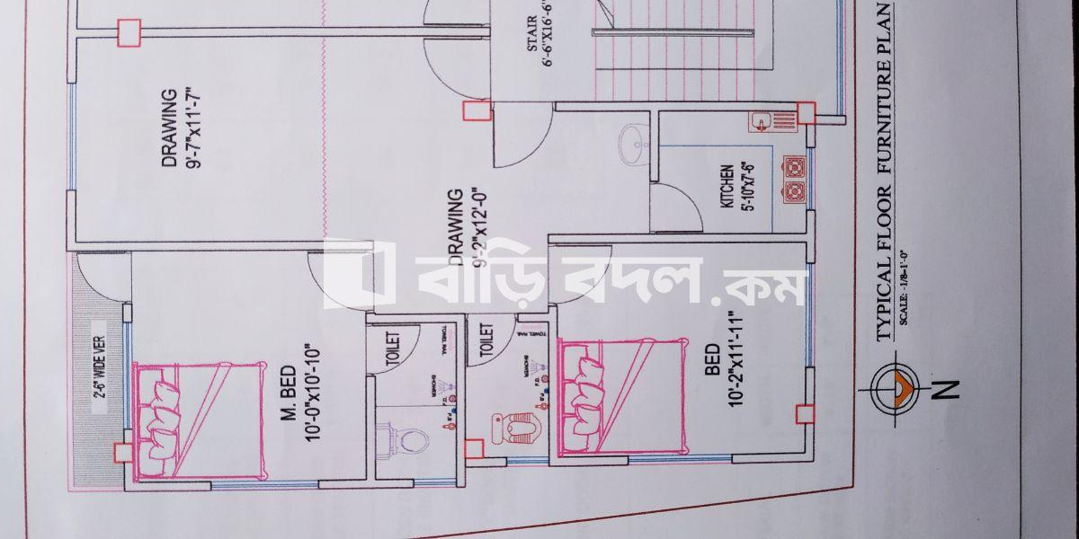 Flat rent in Dhaka যাত্রাবাড়ি, 29/6, (Lyciam school road) Sontek, Dania, Jatrabari