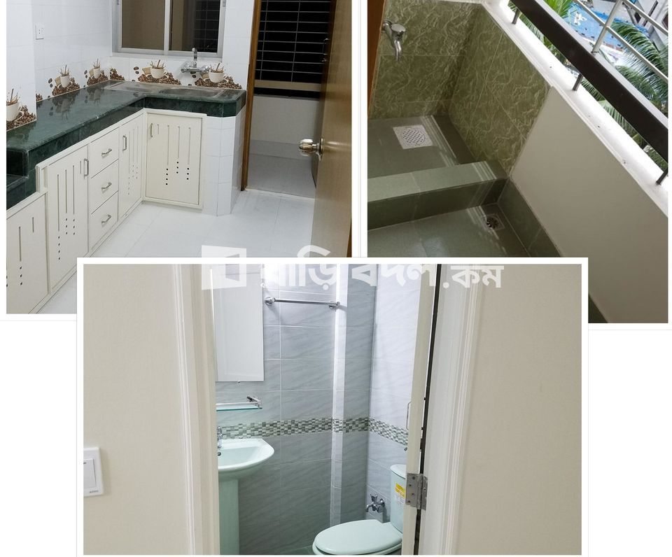 Flat rent in JONAKI ROAD, AHMED NOGAR, MIRPUR-1 75/A/1, 75/A/5, 75/2 | 3  bed(s) | Mirpur 1 | Baribodol.com, Best property rental platform in Bangladesh